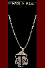 Texas A&M University  Aggies ATM  Necklace Gigem Maroon College NCAA Jewelry Fan