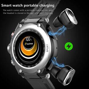 LEMFO T92 Wasserdichte Smart Watch TWS Bluetooth 5.0 Temperaturüberwachung