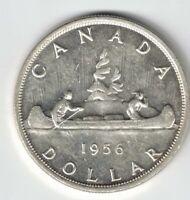 CANADA 1956 VOYAGEUR SILVER DOLLAR QUEEN ELIZABETH II SILVER COIN