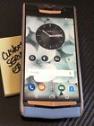 """Genuine Vertu Signature Touch SKY BLUE RED Gold 5.2"""" Extremely RARE BRAND NEW"""