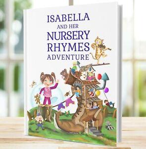 Personalised Nursery Rhymes Book, Ideal Christening 1st Birthday Gift, Paperback