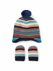 John Lewis Baby/BOY Stripe Hat and Mittens Set 0-3 MONTHS NEW SALE NOW!!!