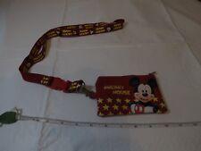 Mickey Mouse Id Cordon Porte-Clé Porte-Clés Changer Carte Support Park Voyage