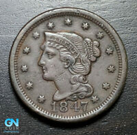 1847 Braided Hair Large Cent --  MAKE US AN OFFER!  #B3303