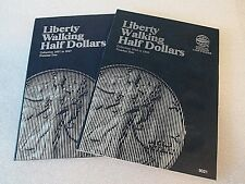 One set of Whitman Liberty Walking Half $ Coin Folders #1&2 1916-1947 #9021-9027