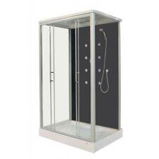 Cabina box doccia idromassaggio 90x120 8 getti porte scorrevoli soffione|fa