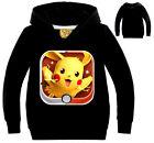 Enfant Garçon Fille Pokemon Sweat À Capuche Pull Manteau Hauts À Capuche T-shirt