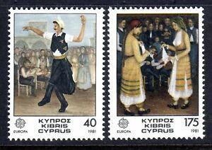 CYPRUS  1981    EUROPA SET          SG  567/68    MNH UM