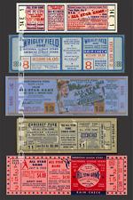 5 1944-1952  BASEBALL ALL-STAR GAME VINTAGE UNUSED FULL TICKETS 44 47 48 50 52