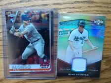 2011 Topps Triple Threads Relic Gold /9 Giancarlo Stanton Mike & Pete Alonso RC