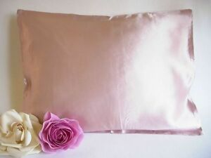 100% silk pillowcase travel 12x16 baby pillow case neutral pink Feeling Pampered