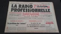 Journal Monthly La Radio Professional N°189 November 1950 ABE