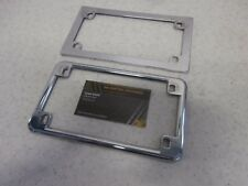 01-17 Honda GL1800 Goldwing 1800 Genuine Rear License Plate Chrome Trim Mount *2