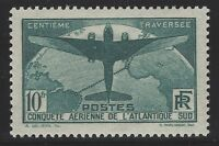 n°321 Traversée de l'Atlantique 1936 10F Neuf* 1936 - Signé & Certificat Calves
