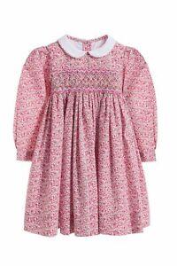 ANNAFIE London  Kleid THUMBELINA Blümchen rosa / rot  Gr. 98 - 128   NEU