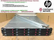 HP D2600 6G SAS Storage Array | 36TB SATA Storage | Rack Rails AJ940A 628059-B21