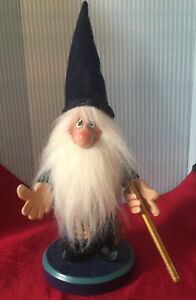 Vintage Zim's Heirloom Collectibles Wizard Nutcracker Moon Stars 2004