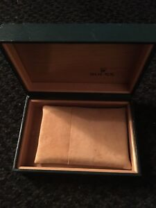ROLEX Empty Watch Box Case Geneve Suisse Green vintage