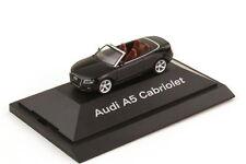 1:87 Audi A5 Cabriolet 8T Fantôme Noir Noir Noir - Dealer-Edition - Herpa