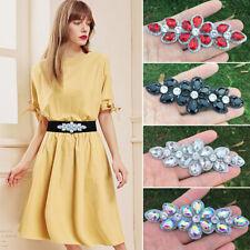 4 Colors Crystal Rhinestone Applique Sew Iron on Wedding Bridal Dress Decoration