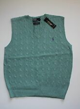 Polo Ralph Lauren Cable Knit Vest Sweater in Size M,L,XL,XXL in Green
