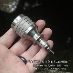 EDC Titanium Alloy Screwdriver Portable Cross Multi-functional EDC Pocket Tools