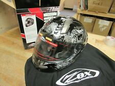 ZOX MOTORCYCLE HELMET - ADULT XS STREET / RACE - PRIMO SLAYER DARK SILVER