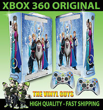 XBOX 360 VECCHIO ADESIVO FORMA caratteri congelati Elsa Anna Olaf SKIN e 2 SKIN PER PAD