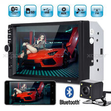 """7"""" Touch Screen Car Stereo Audio MP5 Player BT AUX Double DIN + Rear View Camera"""