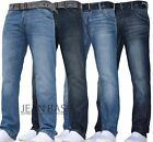 MENS CROSSHATCH STRAIGHT LEG DARK BLUE JEANS ALL WAIST SIZES TECHNO WAKO
