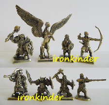 Gnomes and Pegasus bronze metal Toy collection soldier 40mm