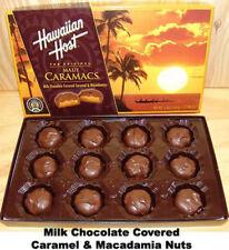 Hawaiian Host Caramel Chocolate Covered Macadamia Nuts Island NIB Sealed Box