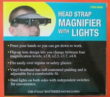 NIB Visor Magnifier Lens Loupe HEAD STRAP with Lights Jewelry. FAST Shipping