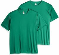 Hanes Men's Short Sleeve Cool DRI T-Shirt UPF 50-,, Kelly Green, Size X-Large Gf