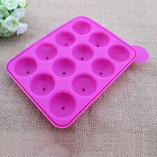 DI- AD_ Cake Pops Mold Round Circle Lollipop Chocolate Decor Baking Mold Silicon