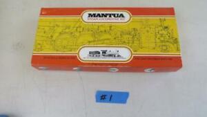 Vintage HO Mantua Undecorated 4-8-0 Steam Locomotive & Tender Kit 510 12 Wheeler