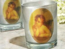Cherub heaven sent silver Collection Design Candle Holders glass present gift