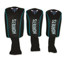 Golf Head Covers Authentic Charlotte Hornets New 3 Lot Woods Faux Leather