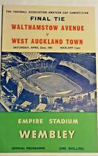 More details for walthamstow ave v west auckland town f.a. amateur cup final programme 22/4/1961.