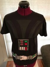 NWT LICENSED NEW STAR WARS DARTH VADER COSTUME COTTON Black T-Shirt YOUTH SMALL