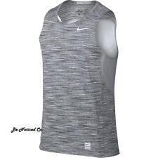 Nike Men's Pro Hypercool Sleeveless Fitted Shirt L Gray Gym Training Running New