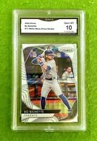 BO BICHETTE RC ROOKIE CARD GRADED  GMA 10 GEM MINT  WHITE WAVE PRIZM 2020 Panini