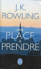 Livre de poche une place à prendre J K Rowling book