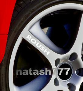 ROUSH Wheels Rims Vinyl Decal sticker Emblem logo Fits: Ford MUSTANG Set of 4