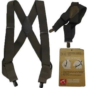 """Carhartt Suspenders 2"""" Adjustable Clip-on Full Swing Rugged Flex Suspender"""