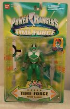 "Power Rangers Time Force - 5"" Green Ranger Light Up Helmet Blaster Swords (MOC)"