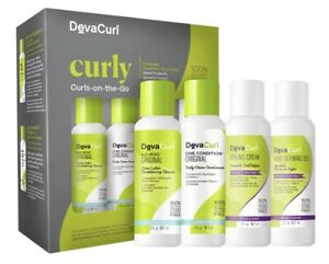 DevaCurl Curly Curls-On-The-Go Set (4 Pieces) NEW