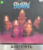 Deep Purple Burn - Purple Vinyl vinyl LP album record UK TPS3505 Pecko A2-B1 Ex