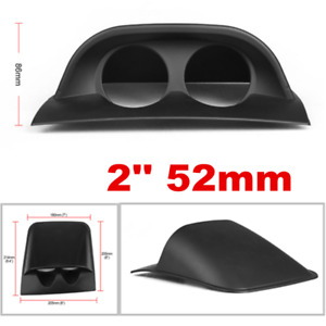 Universal Car Black 2 inch/ 52mm Dual 2 Hole Dash Gauge Pod Mount Holder ABS