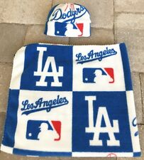 Los Angeles Dodgers MLB Fleece Newborn Infant Baby Receiving Blanket Hat Gift
